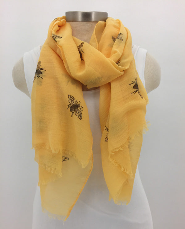 Yellow Glitter Bee Scarf