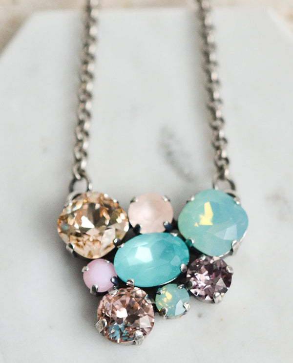 RACHEL MARIE DESIGNS Molly Crystal Necklace Seaside