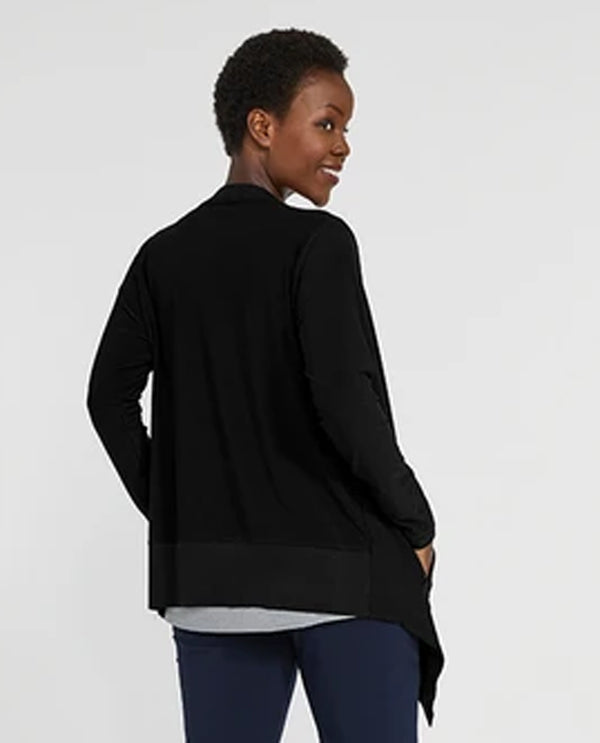 Sympli 25135 Motion Trim Cardigan Black