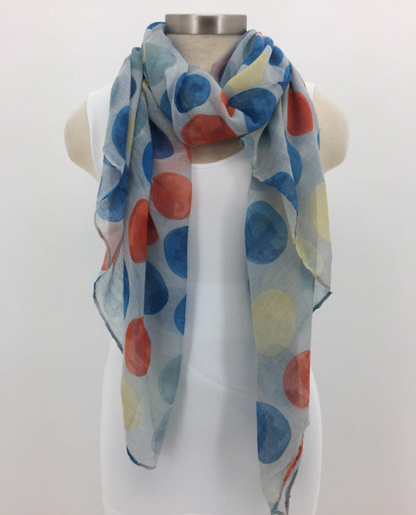 Blue Dot Scarf