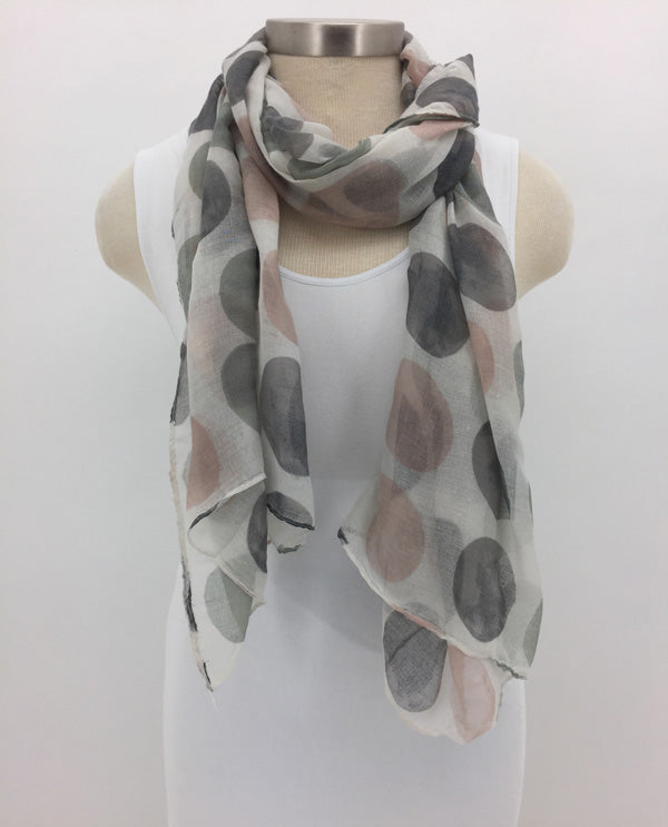 Grey Dot Scarf