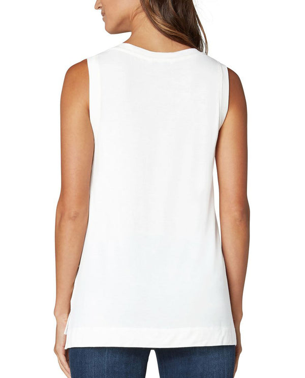 Liverpool LM8382K13 Sleeveless V-Neck White