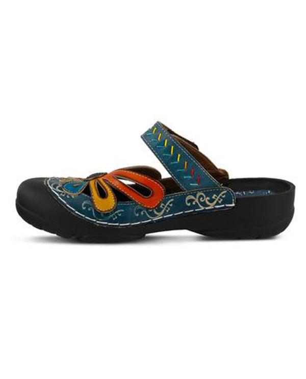 Spring Step COPA Multi Leather Clog Blue