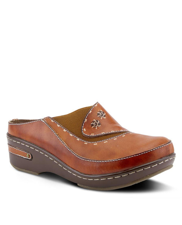 Spring Step CHINO Leather Clog Camel