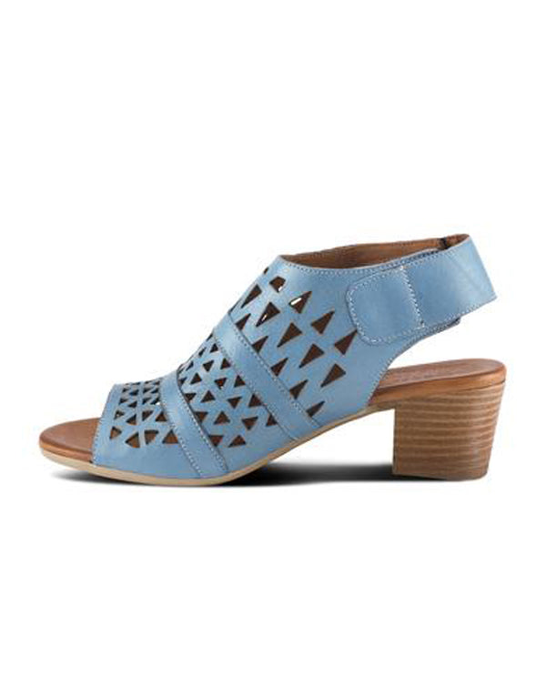 Spring Step DOROTHA Leather Heel Sandal Blue