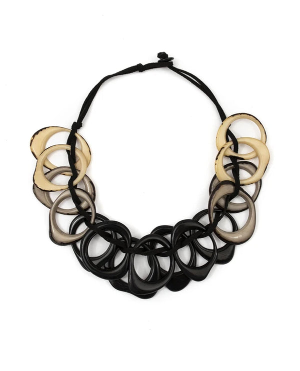 Tagua SC692-ONC Dawn Necklace Black Combo