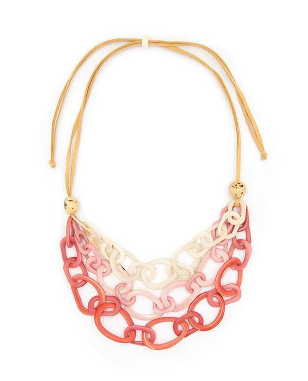Tagua LC006-PK COMBO Diana Necklace Pink Combo