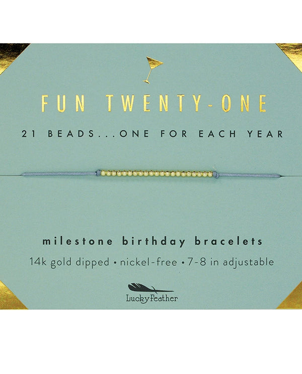 Lucky Feather HBD.M21 21St Bday Bracelet