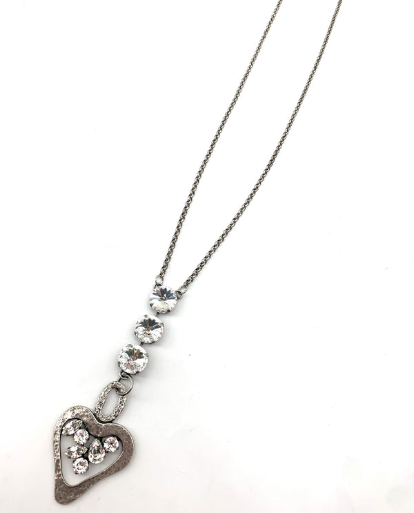 Rachel Marie Designs Kristan Hammered Heart Necklace CLEAR