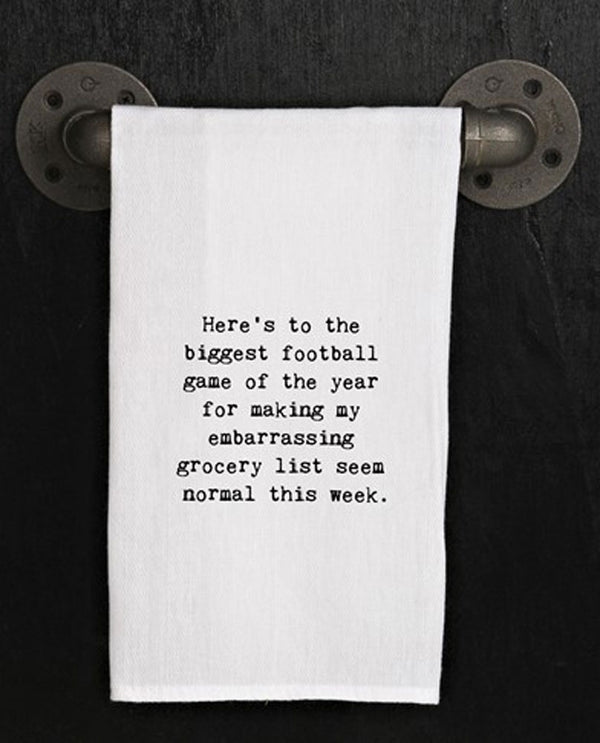 Second Nature By Hand TWL215 Biggest Football Game Towel