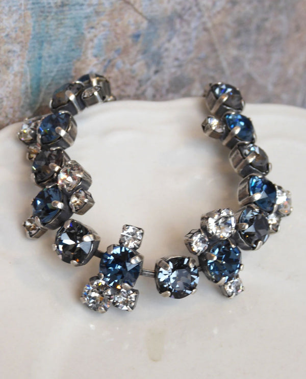 Ashley Cluster Bracelet By Rachel Marie Designs with Swarovski Crystals