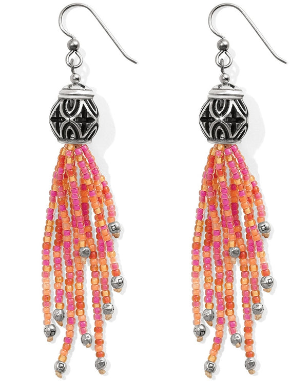 Brighton JA384C Boho Mix Tassel French Wire Earrings