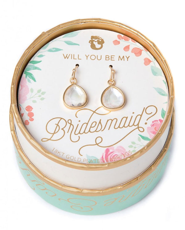Spartina 449 957620 Bridesmaid Pearlescent Earrings