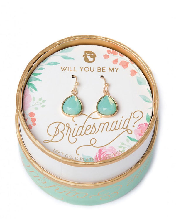 Spartina 449 957644 Bridesmaid Something Blue Earrings
