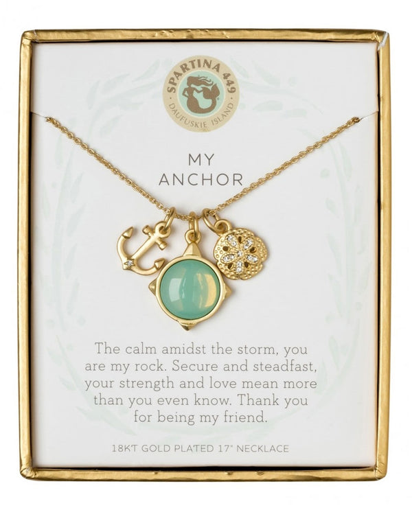 Spartina 449 953592 My Anchor Necklace