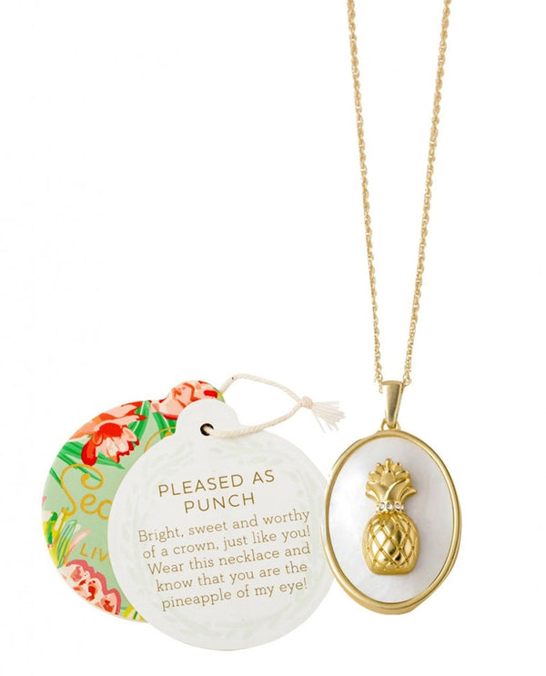 Spartina 449 953219 Pleased Pineapple Necklace