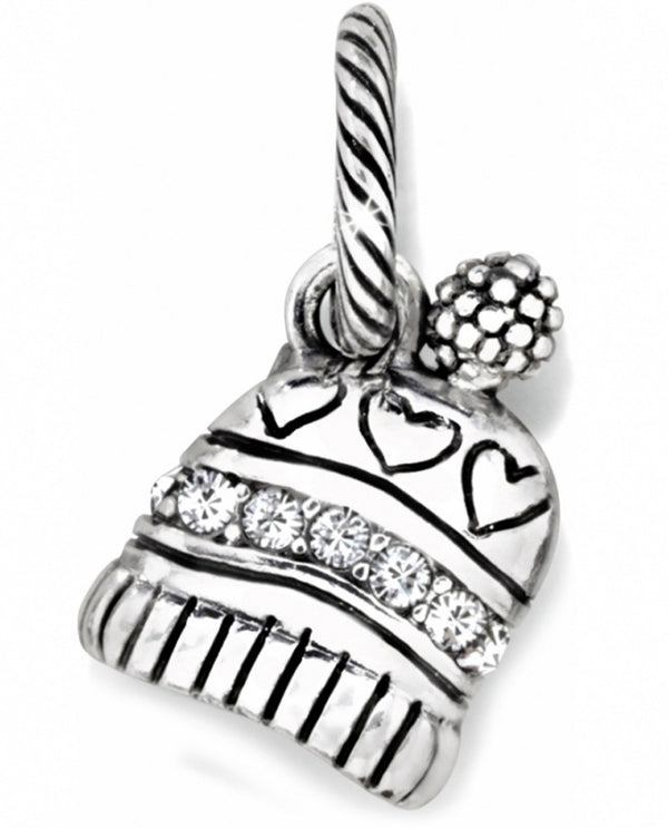 Brighton JC0022 Winter Breeze Charm silver winter hat charm with Swarovski