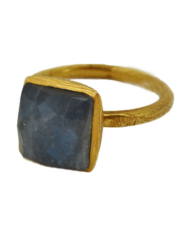 Paz Collective SHR025-LB Gold With Square Ring