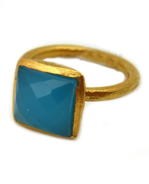 Paz Collective SHR025-BC Gold With Square Ring