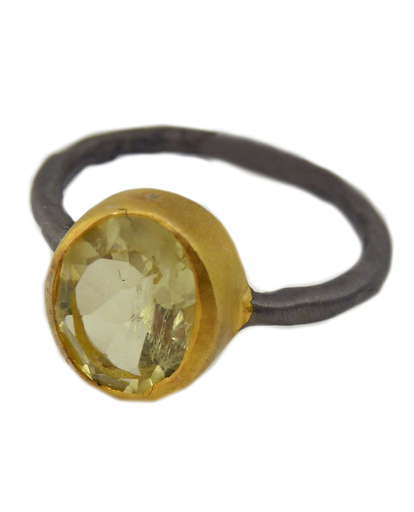 Paz Collective AB140-LM Oval Ring