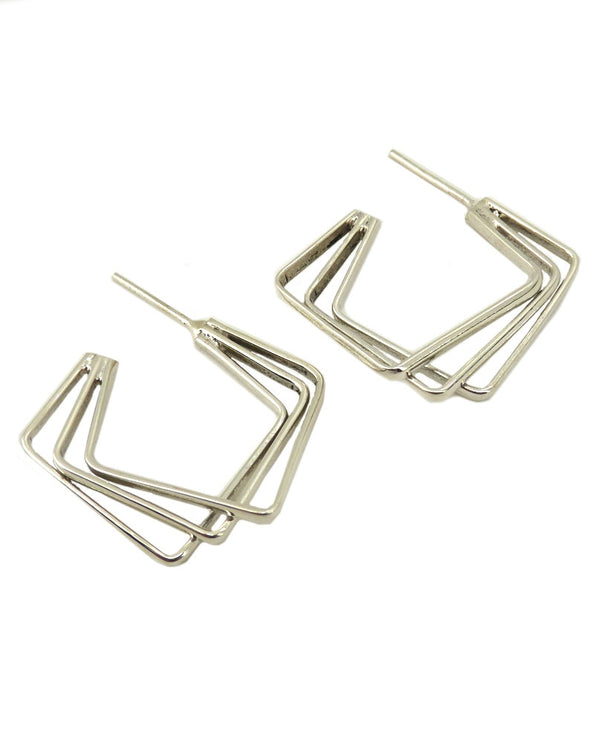 Paz Collective K0342 Sterling Triple Earrings