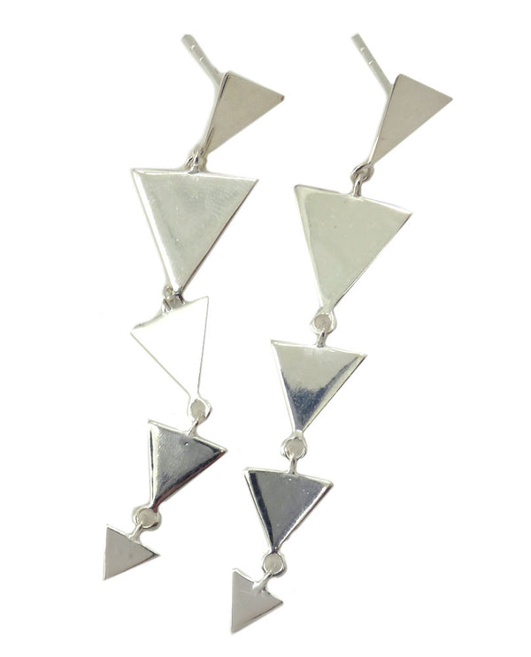 Paz Collective VG667S Sterling Triangle Earrings