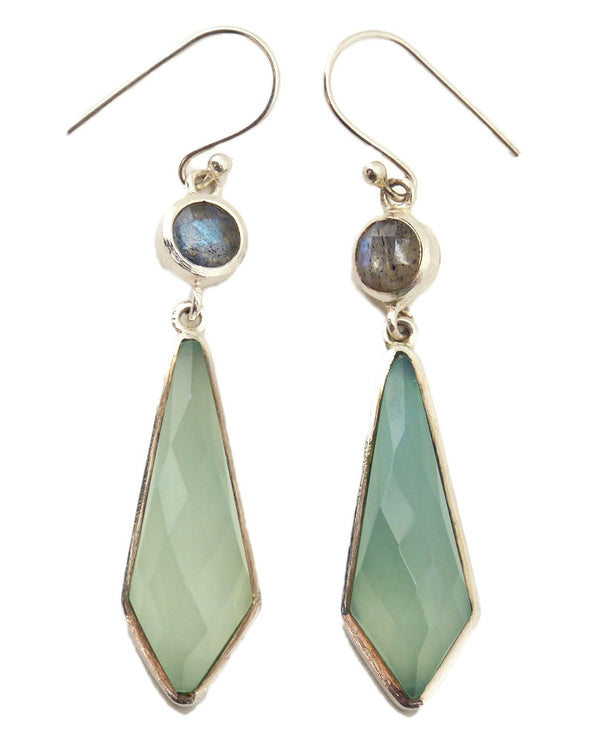 Paz Collective VG48-LB-AC Sterling Aqua Earrings