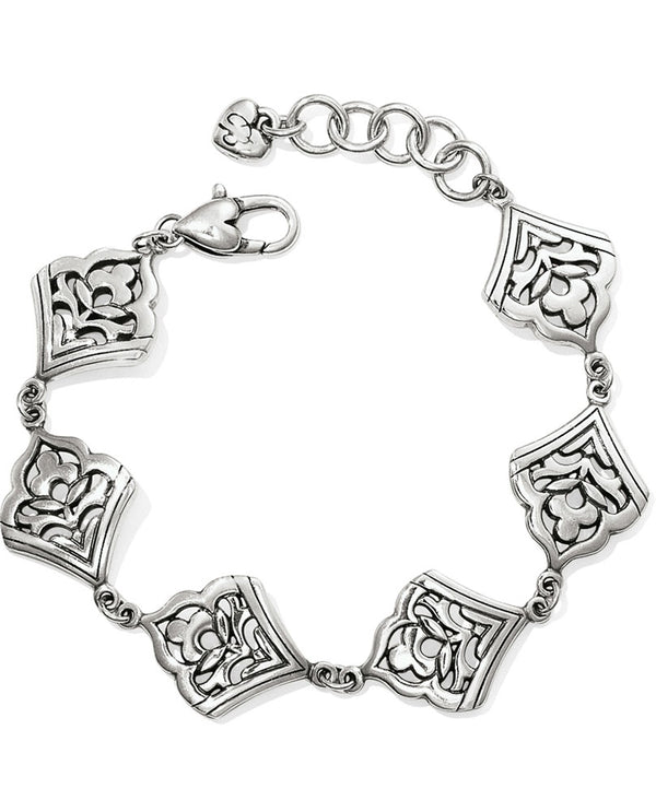 Silver Brighton JF5340 Casablanca Jewel Soft Bracelet with an exotic charm bracelet design