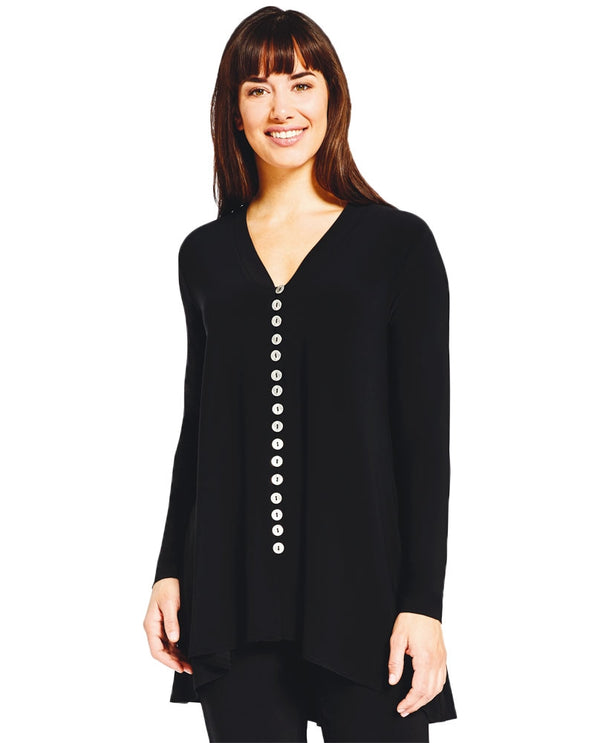 Sympli 2296A-3 Duo Diva Top With Buttons