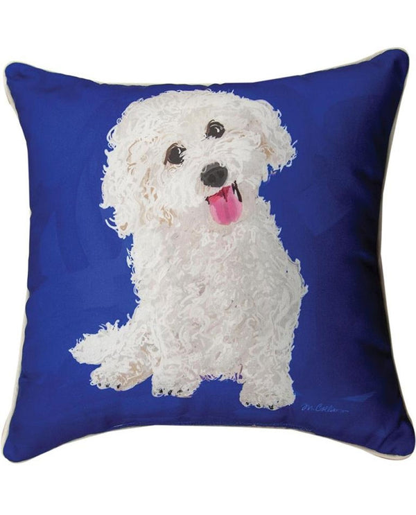 Manual Woodworkers & Weavers SLBIC Bichon Pillow