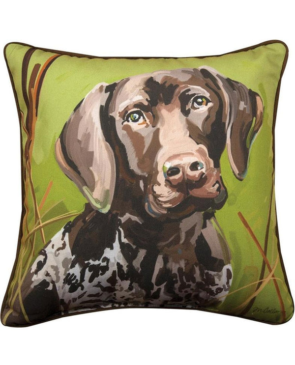 Manual Woodworkers & Weavers German Shorthair Baxter Pillow