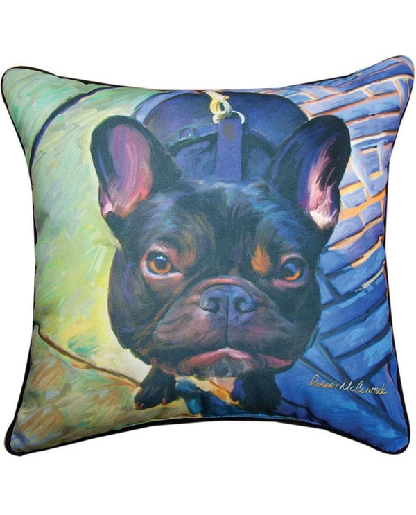 Manual Woodworkers & Weavers Gus French Bulldog Pillow