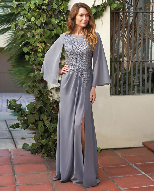 Silver Jade Jasmine J205067 Sequin Lace Chiffon Dress