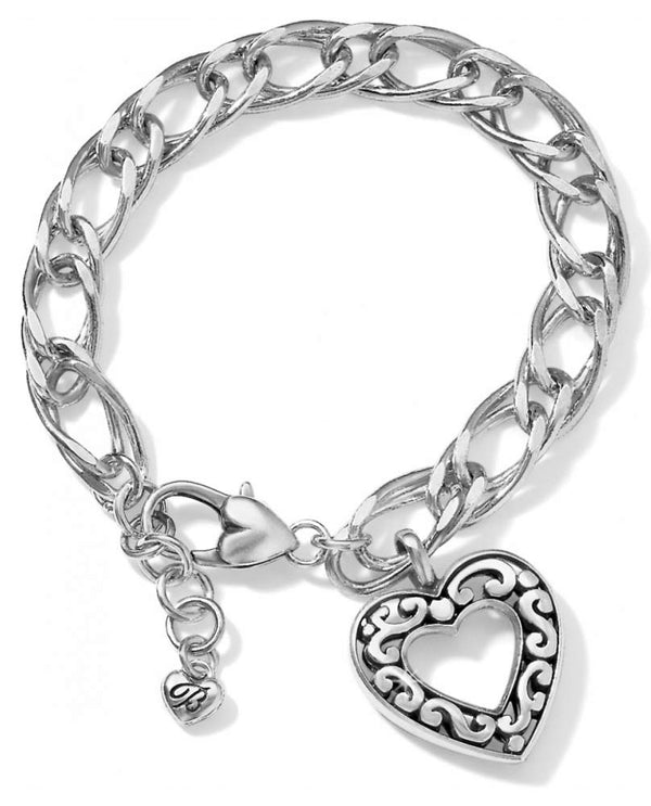 Silver Brighton JF1340 Contempo Love Bracelet with open heart charm that makes it romantic