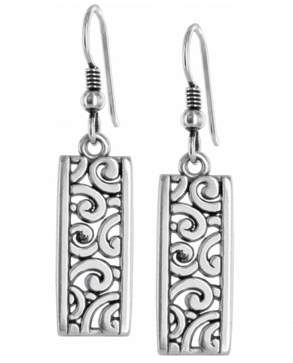 Brighton J13120 Deco Lace French Wire Earrings