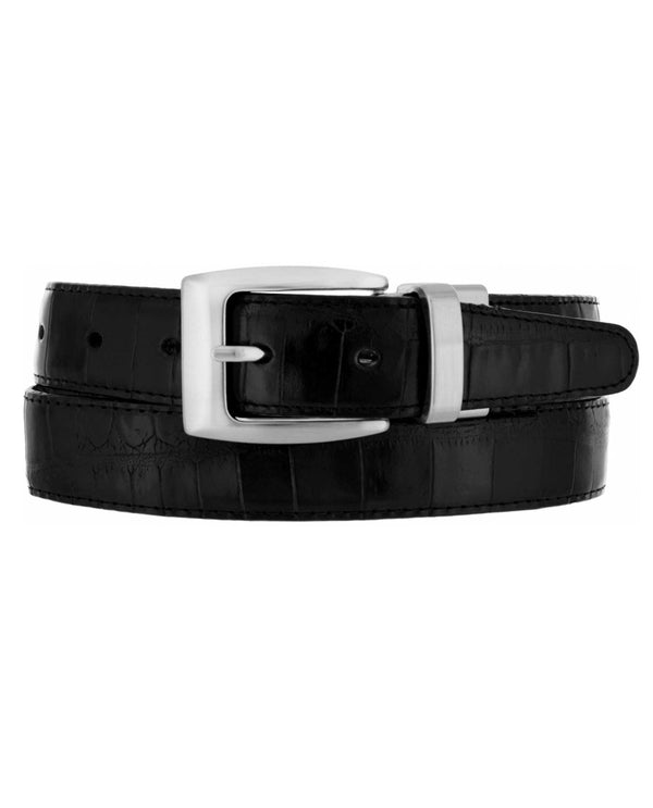 Brighton 30090 Black Croco Reversible Belt