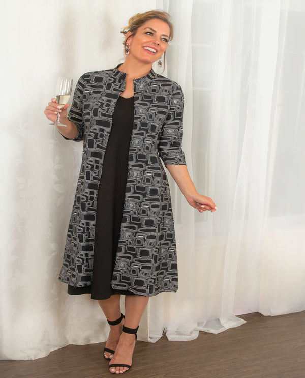 Pure Essence 321-4664 Black & White Print Duster