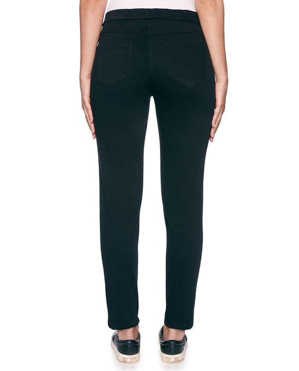 Ruby Rd 34701 Pull On Knitted Twill Petite Black