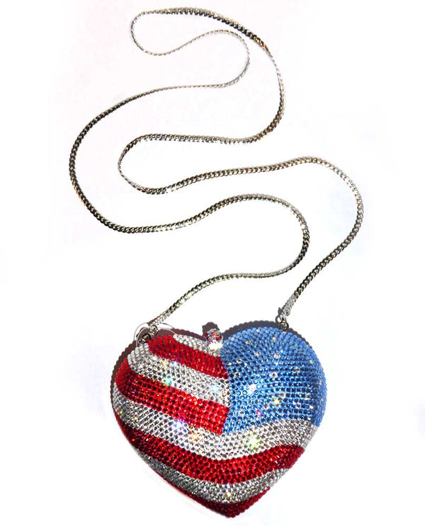 Love America Minaudière Evening Bag