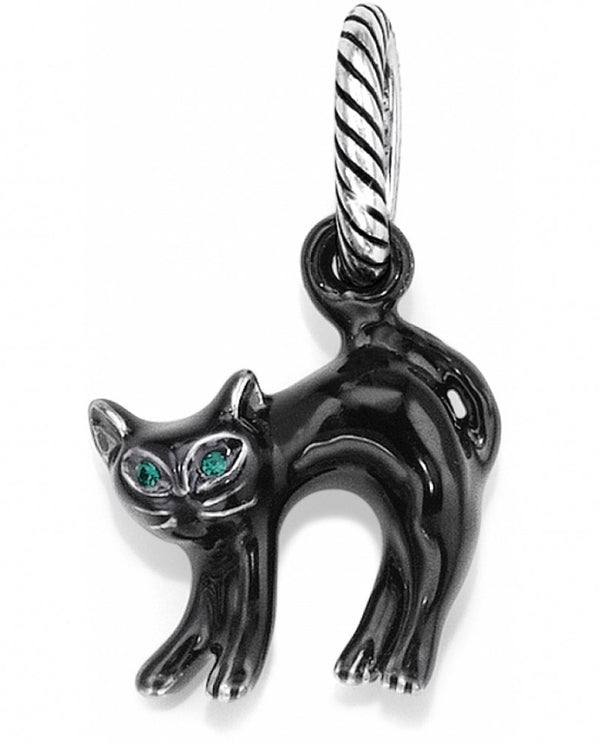 Brighton J98812 Scaredy Cat Charm Halloween black cat charm