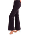 Raffinalla P412-70 Boot Cut Pull On Pants in navy with tummy control panel to keep you slim