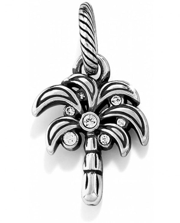 Brighton J97952 Desert Palm Charm silver palm tree charm with dots of Swarovski