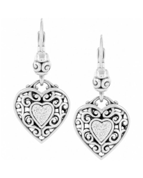 Brighton J14692 Reno Heart Leverback Earrings