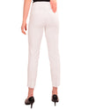 Back of Renuar R1542 White Skinny Ankle Pant be comfortable in these stylish stretch ankle pants