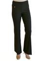 Raffinalla P412-70 Boot Cut Pull On Pants in black with tummy control panel to keep you slim