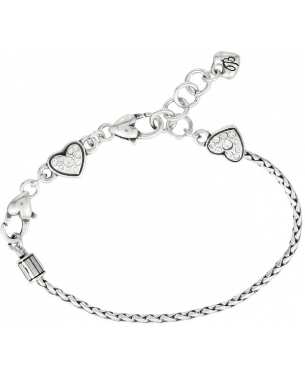 Silver Brighton J35532 Heart Slide Bracelet with sliding hearts and add your favorite charms