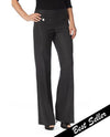 Raffinalla P412-70 Boot Cut Pull On Pants in charcoal with tummy control panel to keep you slim