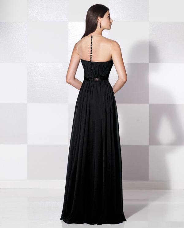 Cameron Blake 11560 Sleeveless Bead Bodice black sleeveless mother of the bride gown
