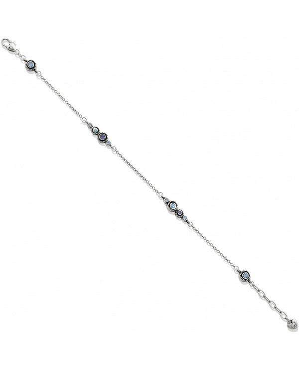 Brighton J71643 Halo Anklet delicate silver anklet with blue and purple Swarovski crystals