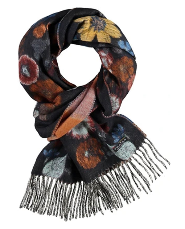 FRAAS 625266 Pressed Floral Scarf Navy